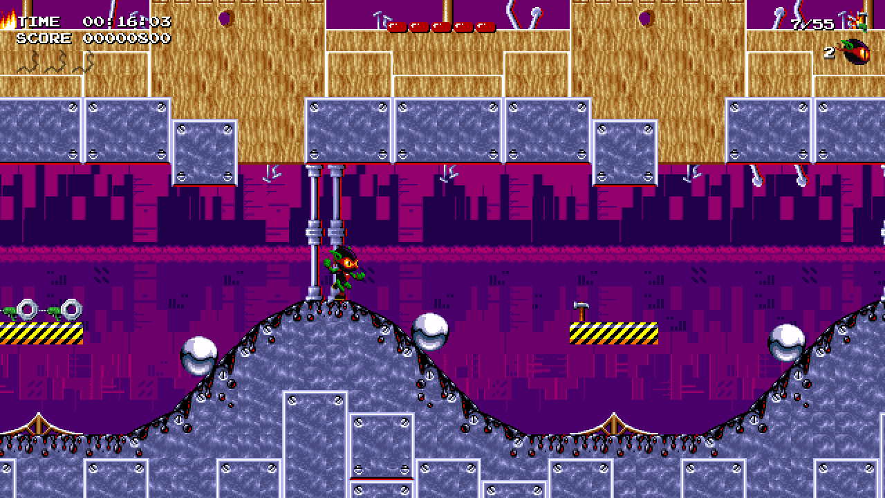 A still from Zool Redimensioned